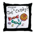 Vegan Halloween Throw Pillow