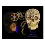 Steampunk Magnetic Visions Small Poster