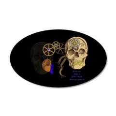 Steampunk Magnetic Visions 38.5 x 24.5 Oval Wall P