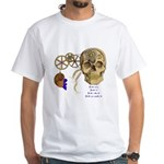 Steampunk Magnetic Visions White T-Shirt