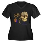 Steampunk Magnetic Visions Women's Plus Size V-Nec