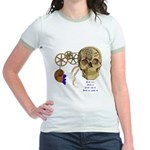Steampunk Magnetic Visions Jr. Ringer T-Shirt