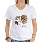 Steampunk Magnetic Visions Women's V-Neck T-Shirt