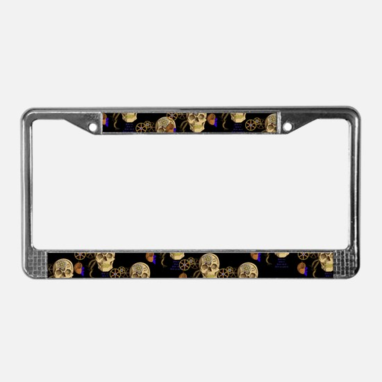 Steampunk Magnetic Visions License Plate Frame