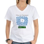 Occupy Wall Street what 99% l Women's V-Neck T-Shi