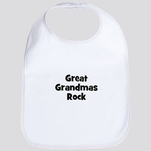 Great Grandmas Rock Bib