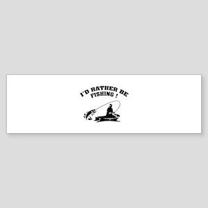 I'd rather be fishing ! Sticker (Bumper)
