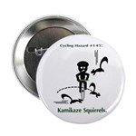 "Cycling Hazard - Kamikaze Squ 2.25"" Button"