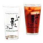 Cycling Hazard - Kamikaze Squ Drinking Glass