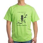 Cycling Hazard - Kamikaze Squ Green T-Shirt