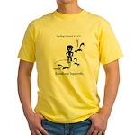 Cycling Hazard - Kamikaze Squ Yellow T-Shirt
