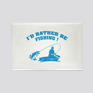 I'd rather be fishing ! Rectangle Magnet