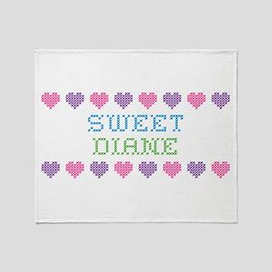Sweet DIANE Throw Blanket
