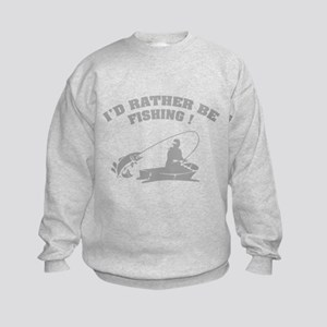I'd rather be fishing ! Kids Sweatshirt