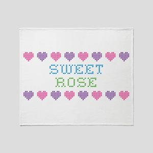 Sweet ROSE Throw Blanket