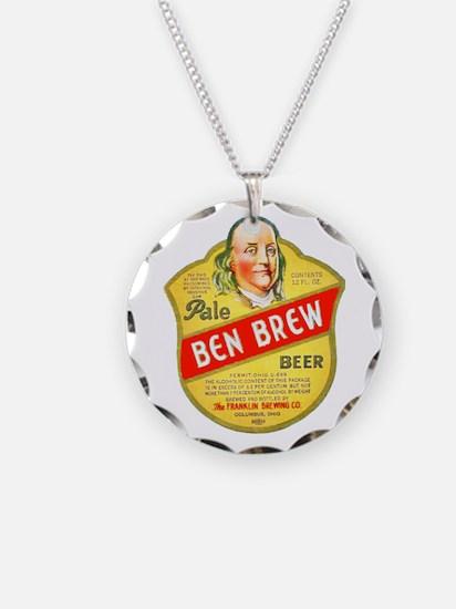 Ohio Beer Label 5 Necklace