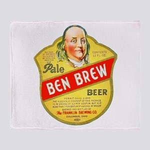 Ohio Beer Label 5 Throw Blanket