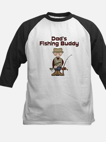 Dad's Fishing Buddy Kids Baseball Jersey