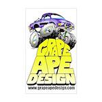 Grape Ape Design Sticker (Rectangle)