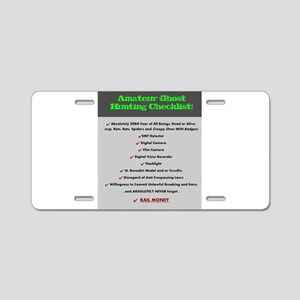 Paranormal Hobbyist Aluminum License Plate