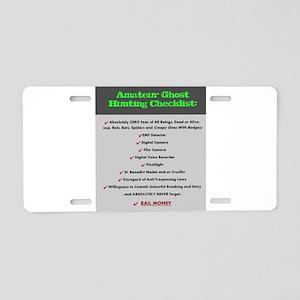 Paranormal Hobbyist Aluminum License Plate