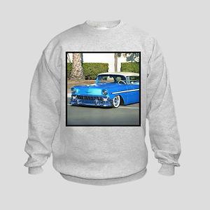 Classic Blue Car Kids Sweatshirt