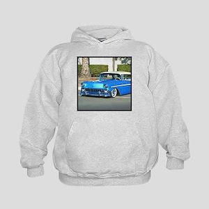 Classic Blue Car Kids Hoodie