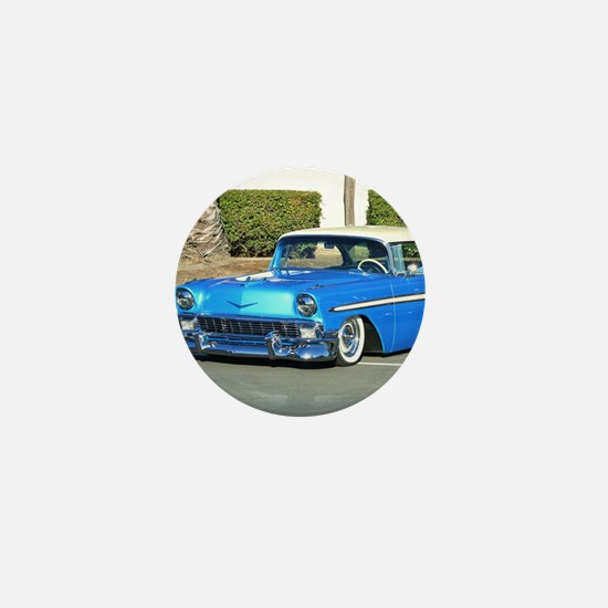 Classic Blue Car Mini Button