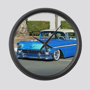 Classic Blue Car Large Wall Clock
