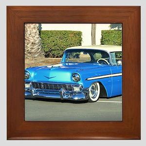 Classic Blue Car Framed Tile