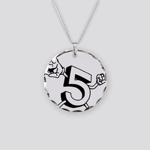 Five Peace Necklace Circle Charm