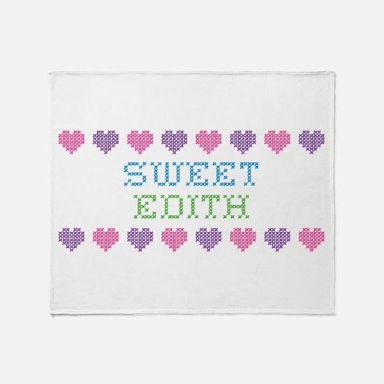 Sweet EDITH Throw Blanket