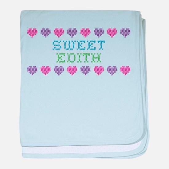 Sweet EDITH baby blanket