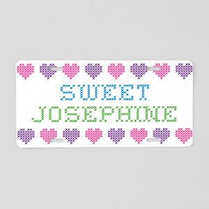 Sweet JOSEPHINE Aluminum License Plate