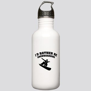 I'd rather be snowboarding Stainless Water Bottle