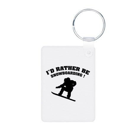 I'd rather be snowboarding Aluminum Photo Keychain