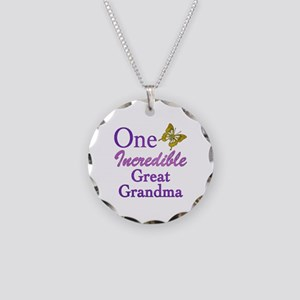 One Incredible Great Grandma Necklace Circle Charm