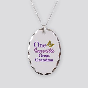 One Incredible Great Grandma Necklace Oval Charm