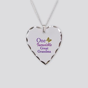 One Incredible Great Grandma Necklace Heart Charm