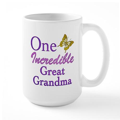 One Incredible Great Grandma Large Mug
