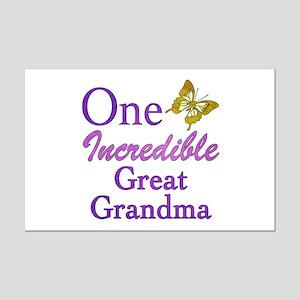 One Incredible Great Grandma Mini Poster Print