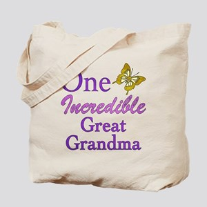 One Incredible Great Grandma Tote Bag