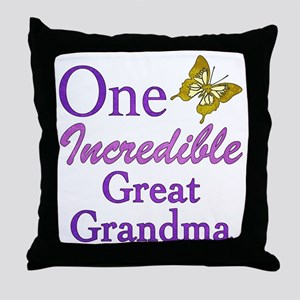 One Incredible Great Grandma Throw Pillow