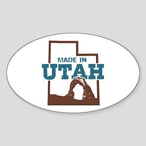 Made In Utah Sticker (Oval)