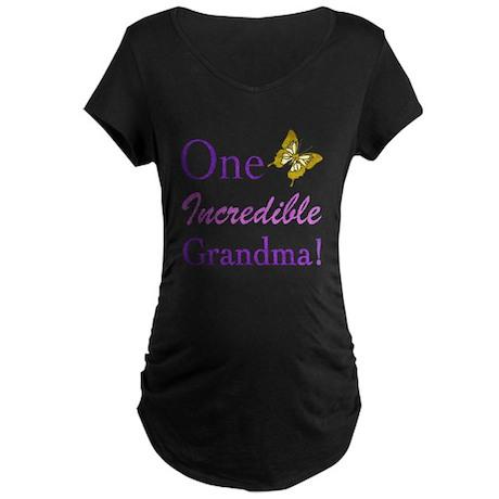 One Incredible Grandma Maternity Dark T-Shirt