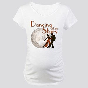 Retro Dancing with the Stars Maternity T-Shirt