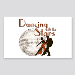 Retro Dancing with the Stars Rectangle Sticker
