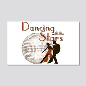 Retro Dancing with the Stars 22x14 Wall Peel