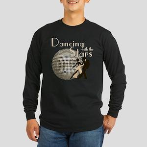 Retro Dancing with the Stars Long Sleeve Dark T-Sh