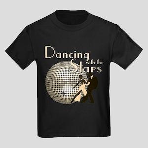 Retro Dancing with the Stars Kids Dark T-Shirt